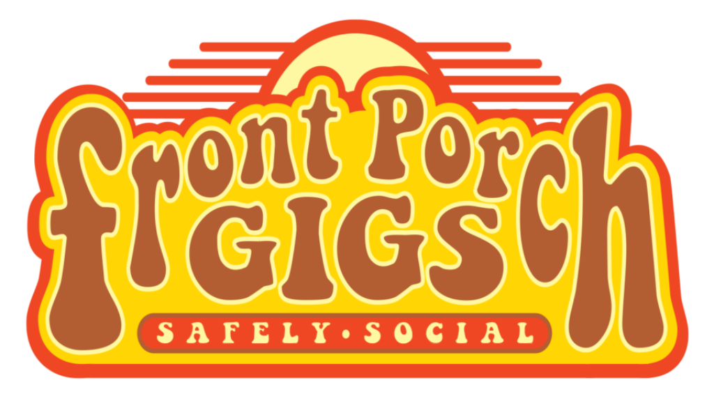 Front Porch Gigs Yellow Brown Logo